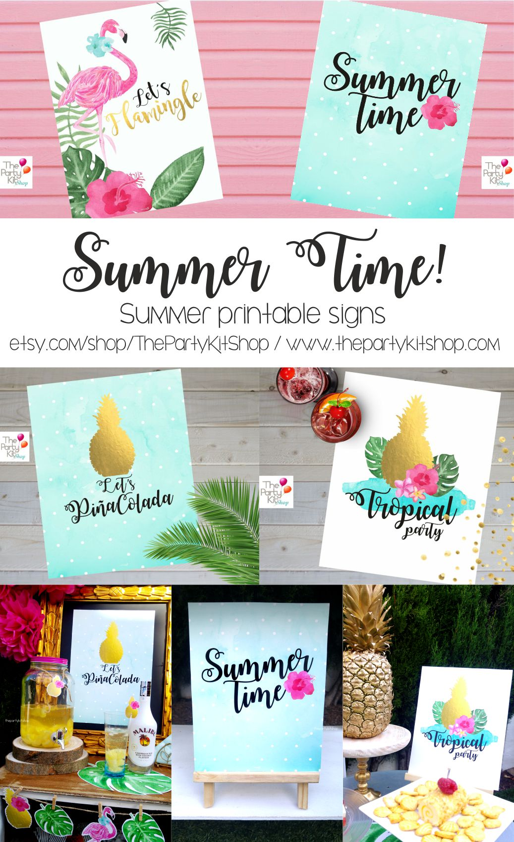 Summer Printable Signs
