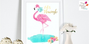 flamingo party printable