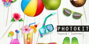Printable summer Photoprops