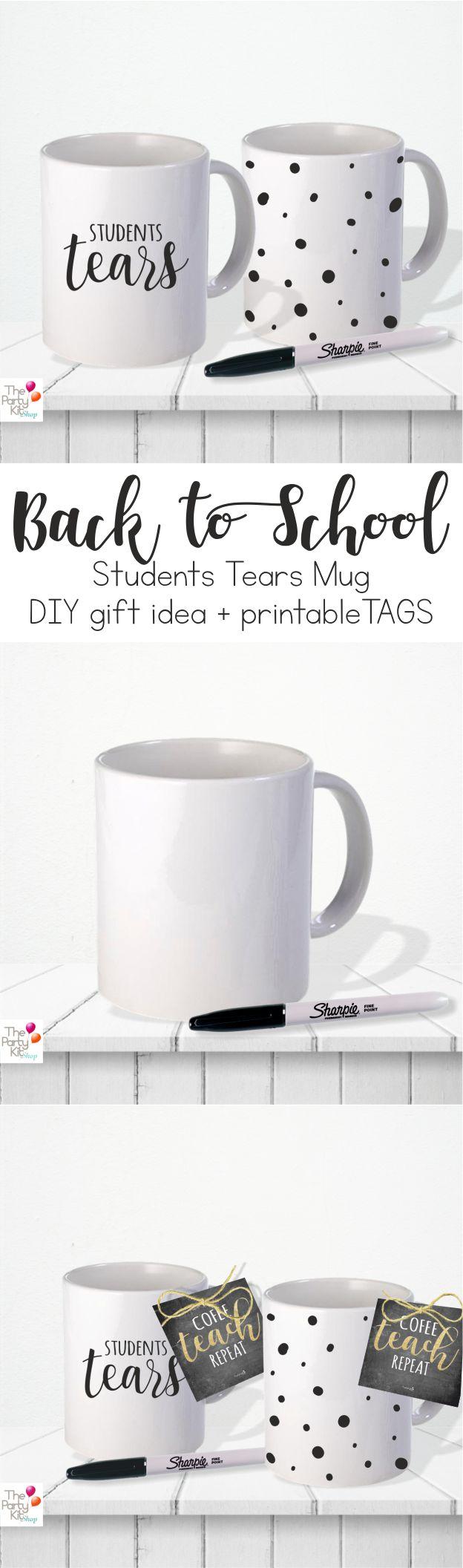 student tears DIY mug