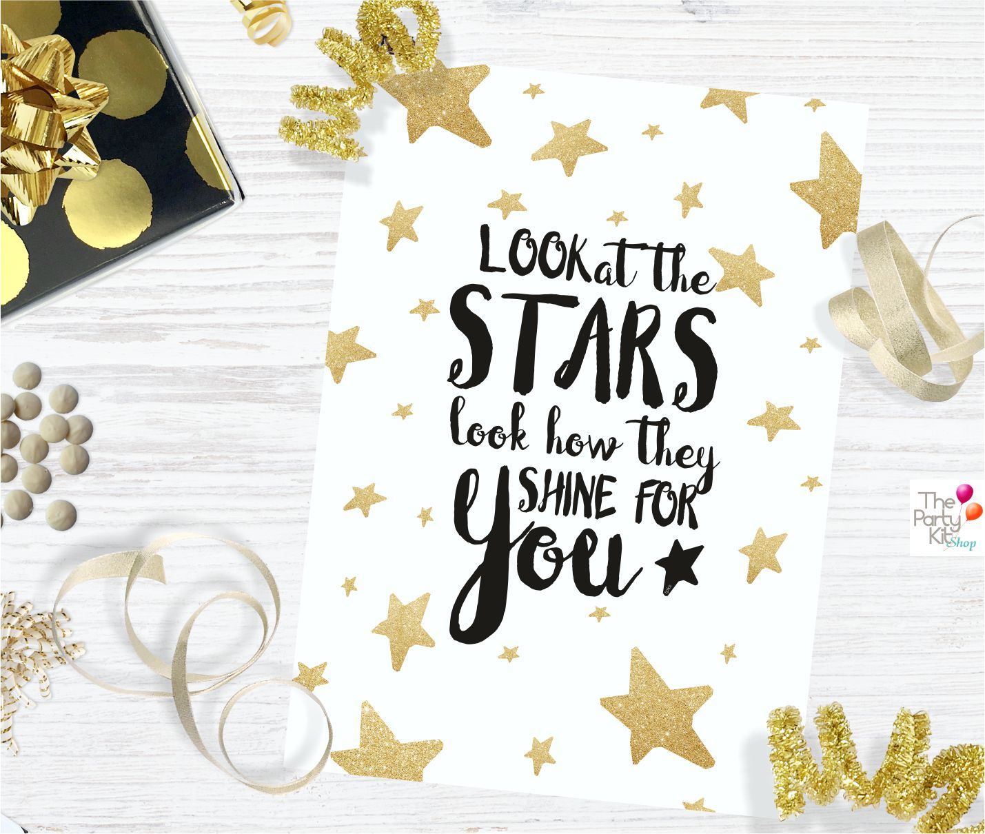 Look at The Stars printable Sign
