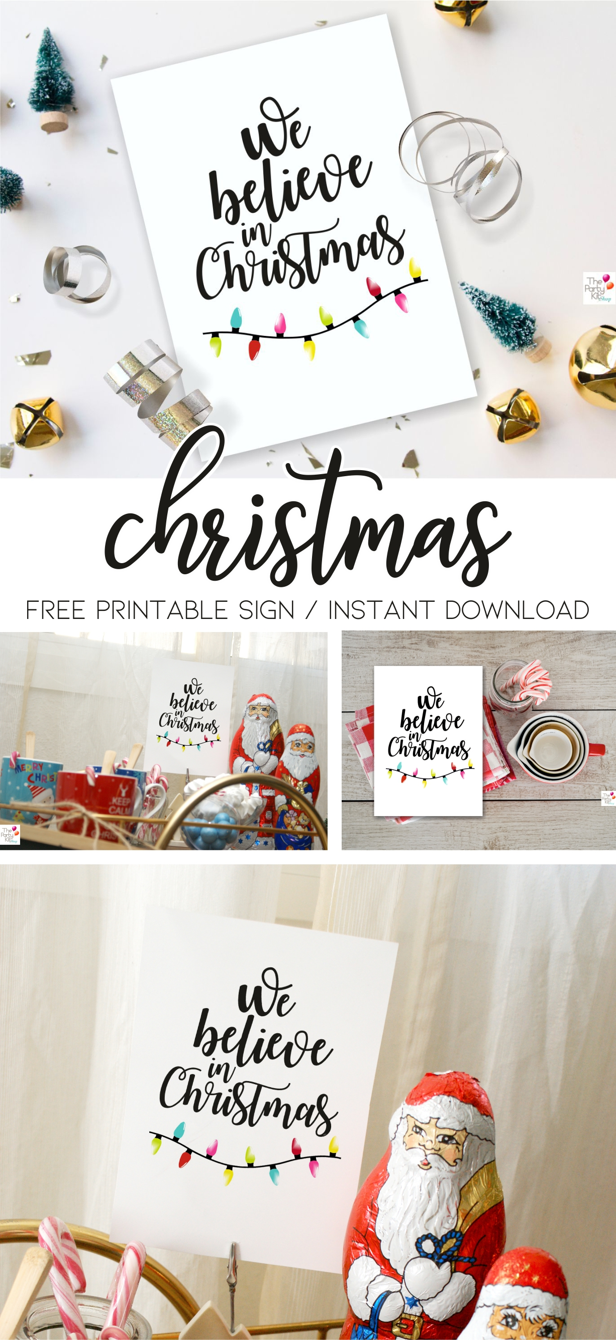 we believe in christmas free printable sign