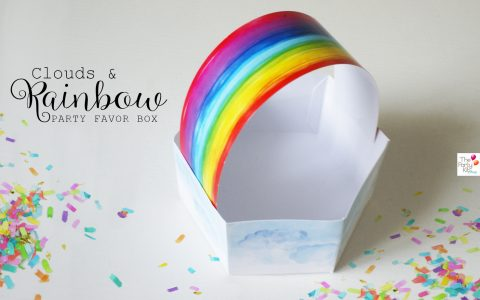 rainbow party favor box free printable