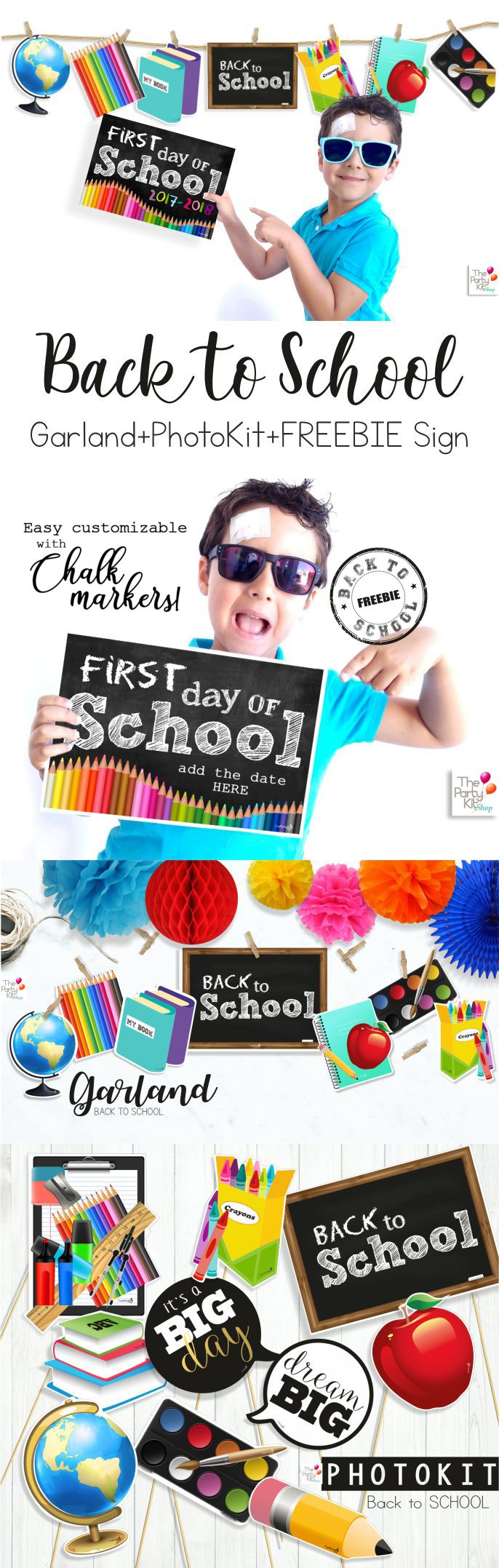 Back to School Garland+PhotoKit+FREEBIE Sign