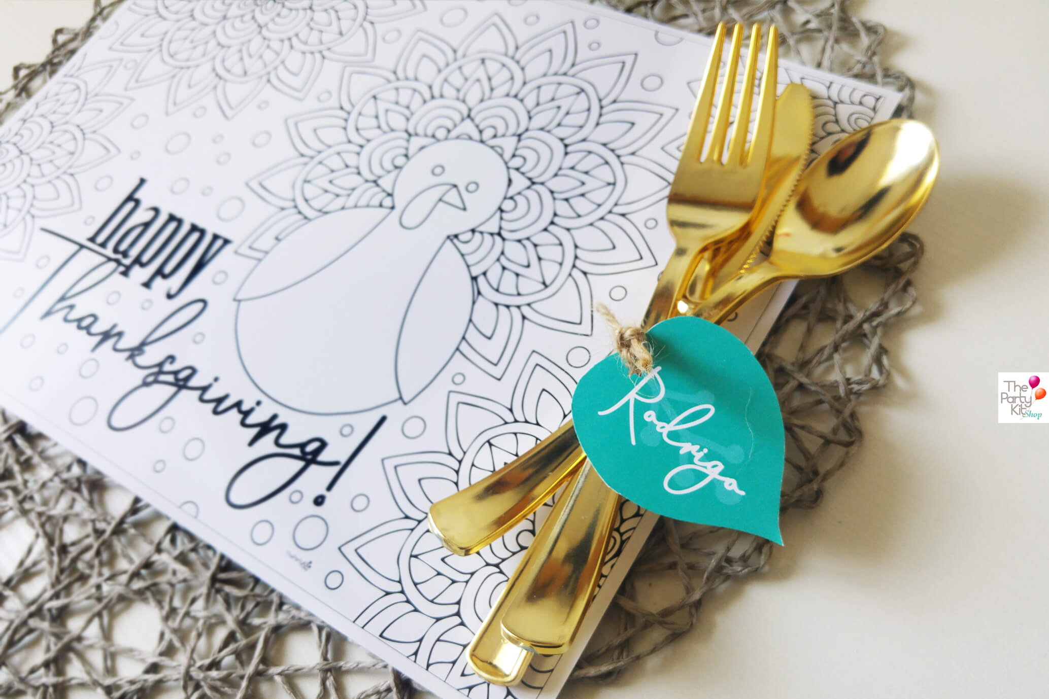 thanksgiving printable placemat