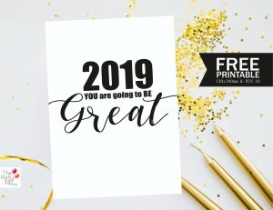 Free New Year's printable Sign
