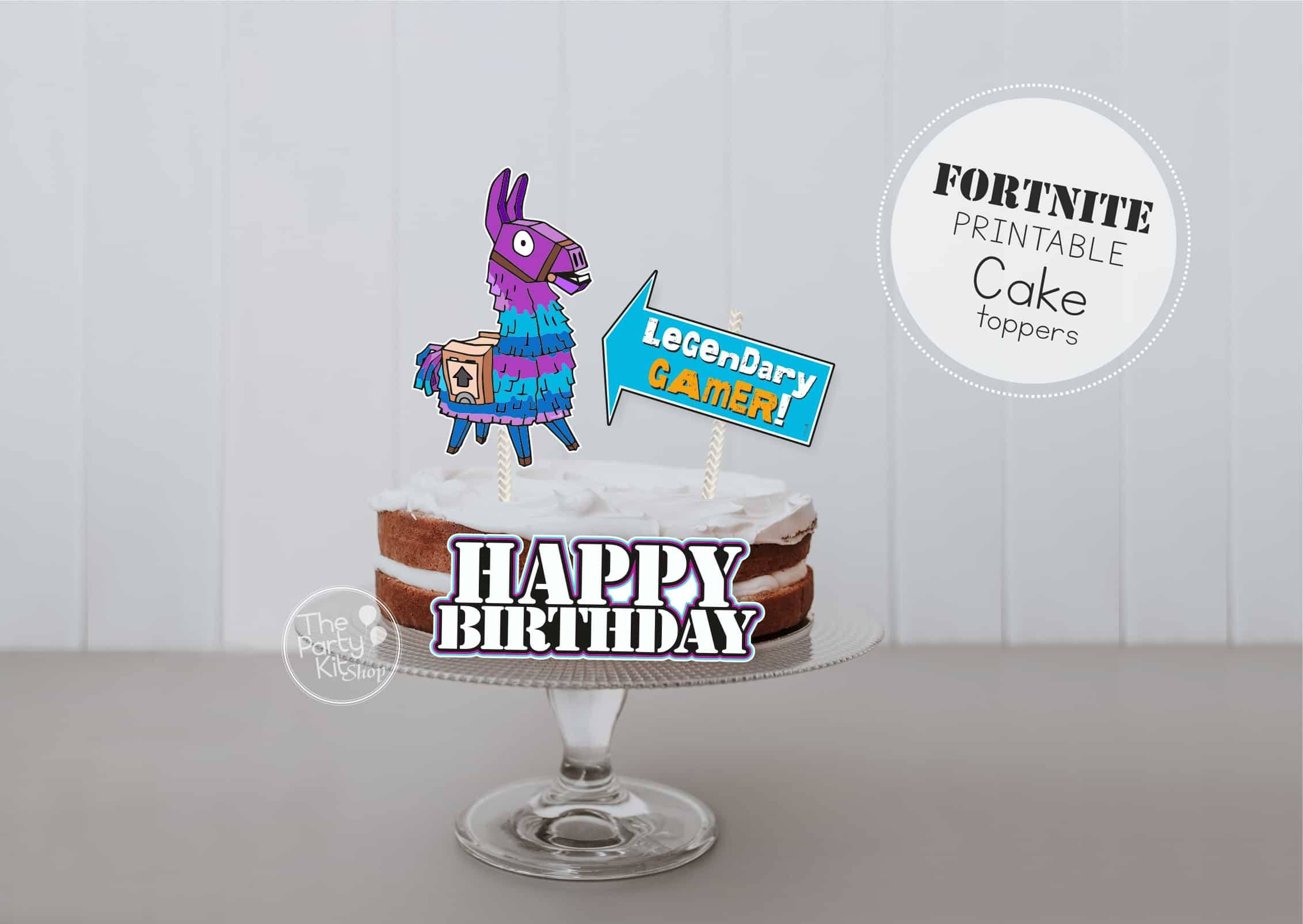 fornite cake topper