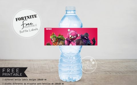 fornite free bottle labels 2