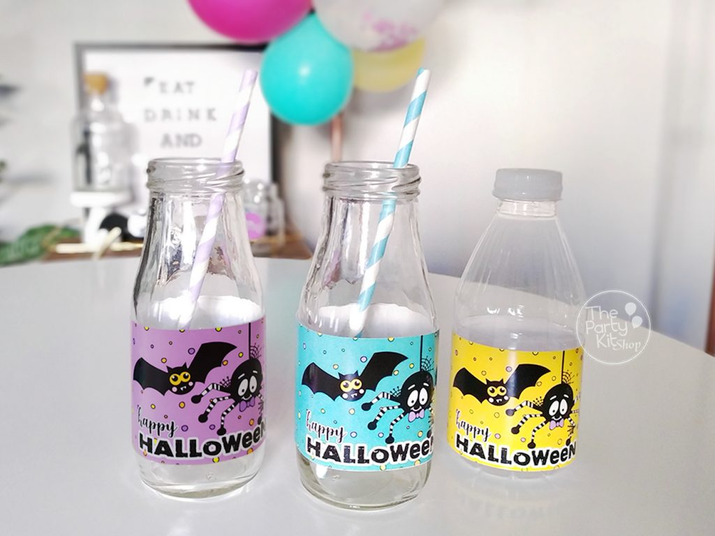 hallowwen party bottle labels