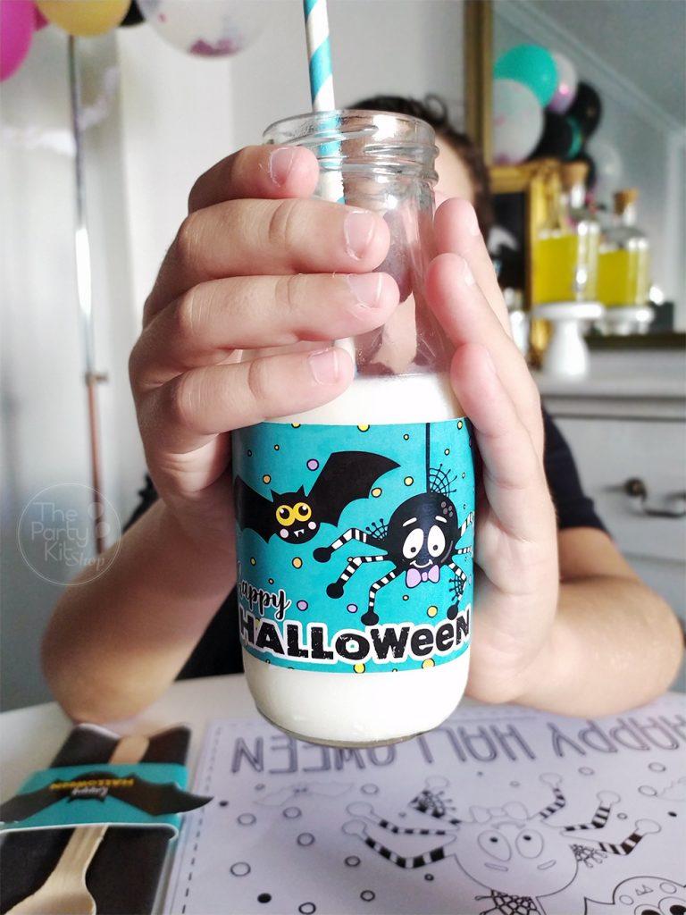 hallowwen party bottle labels