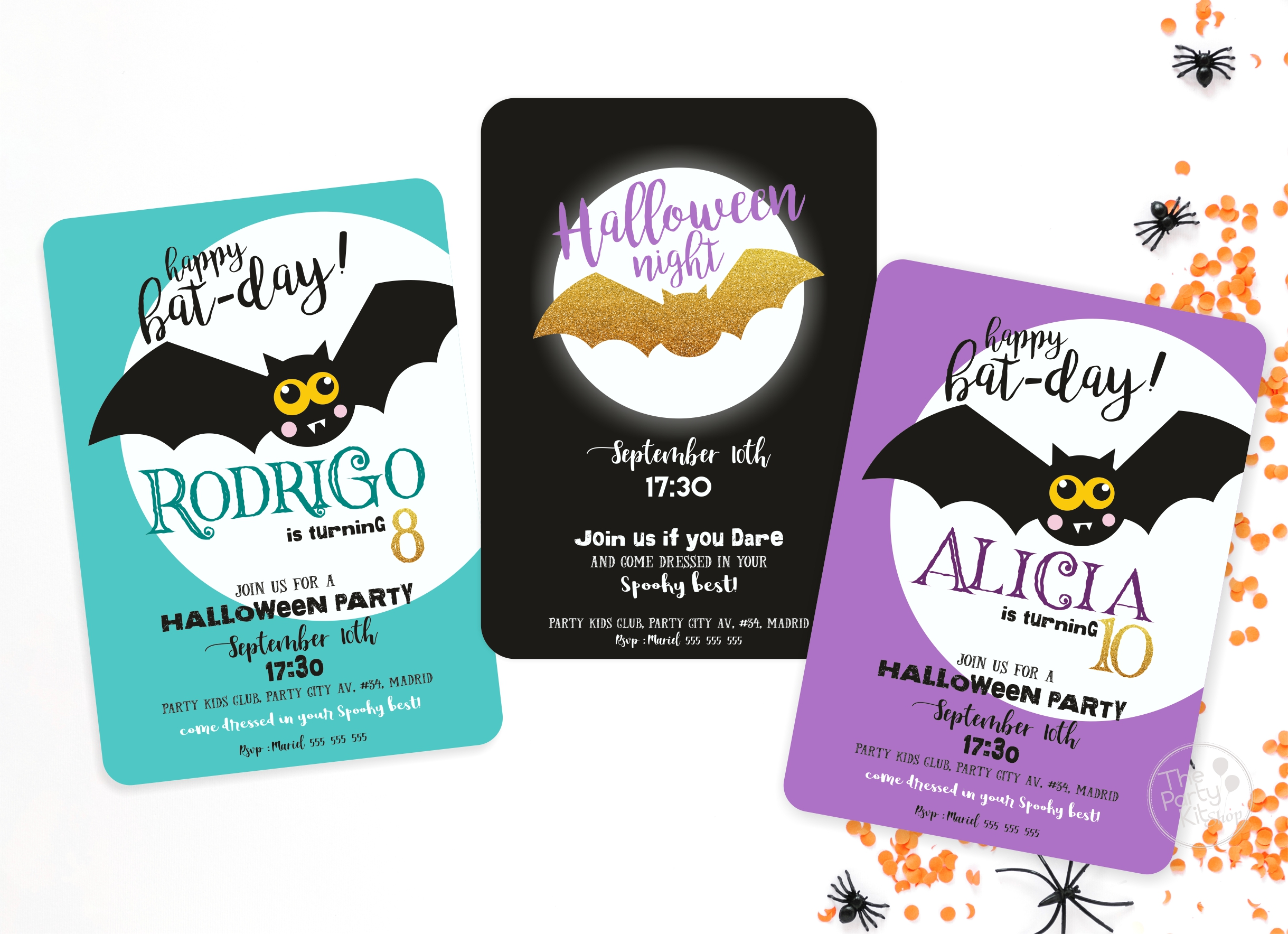halloween batty all invites